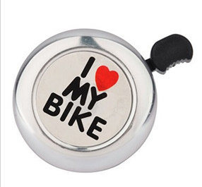 "Звонок ""I LOVE MY BIKE"" silver"
